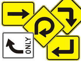 Right Turn Signs