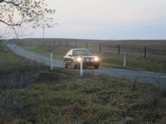 Car 1 crosses the culvert before CP 15.
